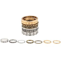 Ballet 5 Pc Textured Stackable Ring Set