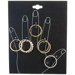 5 Pc Stackable Ring Set