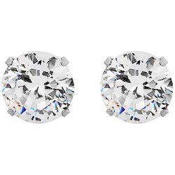 Bay Studio Silver Tone 7mm Cubic Zirconia Stud Earrings