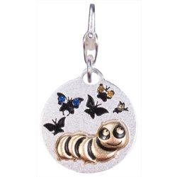 Amanda Blu Caterpillar Butterfly Charm