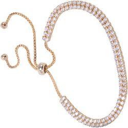 Amanda Blu Two Row Cubic Zirconia Slider Bracelet
