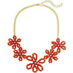 Bay Studio Gold Tone Open Bead Floral Frontal