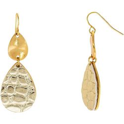 Bay Studio Gold Tone Animal Print Teardrop Earring