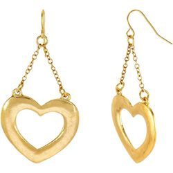 Bay Studio Open Heart & Chain Drop Earrings