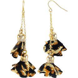 Bay Studio Animal Fabric Linear Earrings