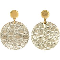Bay Studio Animal Print Disc Post Top Earrings