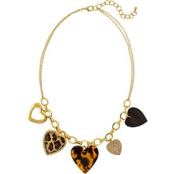 Bay Studio Four Hearts Gold Tone Necklace