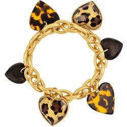 Bay Studio Animal Heart Charm Stretch Bracelet