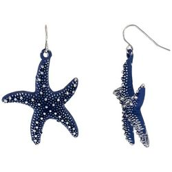 Bay Studio Dark Navy Blue Starfish Drop Earrings