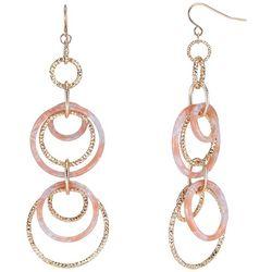 Bay Studio Rose Gold Tone & Acetate Drop Rings Earrings
