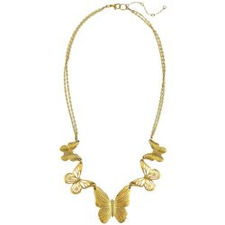 Bay Studio Gold Tone Butterfly Necklace