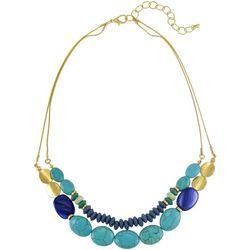 Bay Studio Two-Row Turquoise Beaded Goldtone Necklace