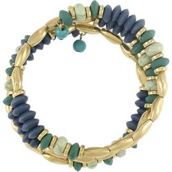 Bay Studio Gold & Cool Tone Beaded Coil Bracelet