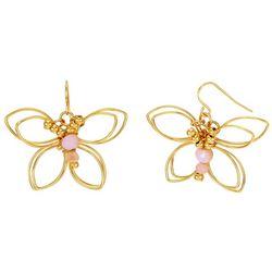 Bay Studio Goldtone Butterfly Drop Earrings