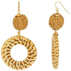 Bay Studio Natural Wrapped Ring Drop Earrings