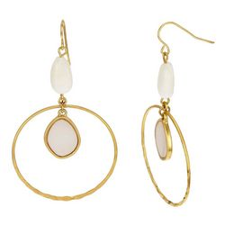 Bay Studio Dropped Orbital Ring Earrings
