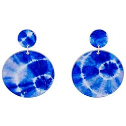 Bay Studio Tie Dye Disc Drop Earrings