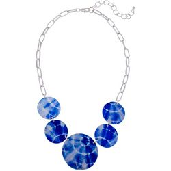 Bay Studio Tie Dye Disc Frontal Necklace