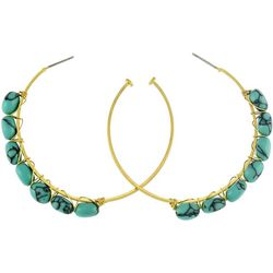 Bay Studio Turquoise Beaded C-Hoop Earrings