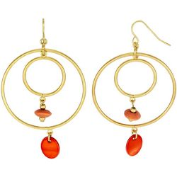 Bay Studio Goldtone Double Orbital Hoop Earrings