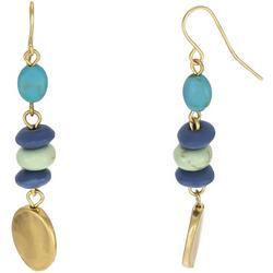 Linear Cool Tone Beaded Earrings