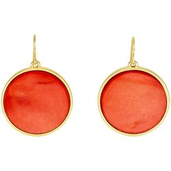 Bay Studio Coral Shell Disc Goldtone Earrings