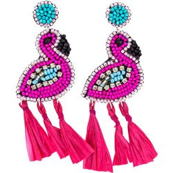 Bay Studio Seedbead Flamingo Post Top Earrings