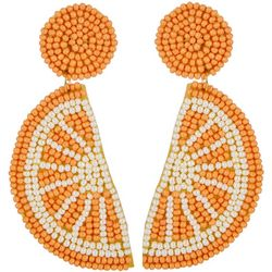 Bay Studio Long Seedbead Orange Slice Drop Earring