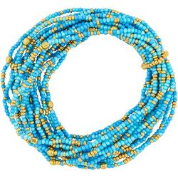 Bay Studio Blue & Gold Tone Seedbead Bracelet Set