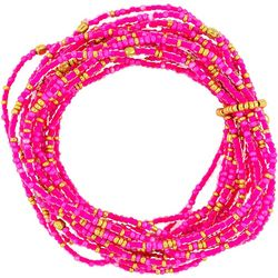 Bay Studio Pink & Gold Seedbead Bracelet Set