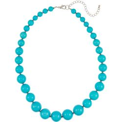 Bay Studio Aqua Multi Beaded Collar Necklace