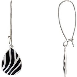Bay Studio Zebra Print Teardrop Earrings