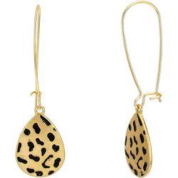Bay Studio Gold Tone Leopard Embossed Drop Earrings