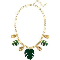 Bay Studio Green Palm Leaf Shaky Necklace