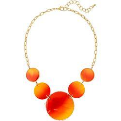 Sunrise Sunset Shell Disc Necklace