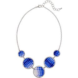 Bay Studio Blue Multi Disc Frontal Necklace
