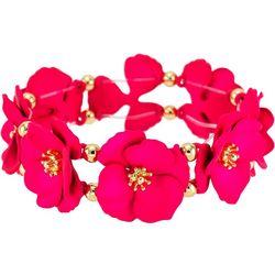 Bay Studio Fuchsia Multi Flower Stretch Bracelet