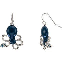 Bay Studio Blue Octopus Earrings