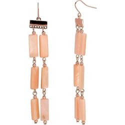 Bay Studio Pink Shell 2 Row Dangle Earrings