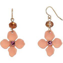 Bay Studio Pink Flower Drop Earrings