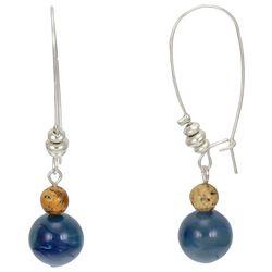 Bay Studio Stacked Bead Long Hook Earrings