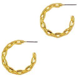Bay Studio Chain Link C-Hoop Post Back Earrings