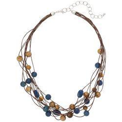 Bay Studio Multi-Row Beaded Cord Necklace