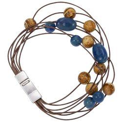 Bay Studio Multi-Row Beaded Cord Bracelet