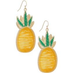 Bay Studio Large Thread Woven Pineapple Earrings