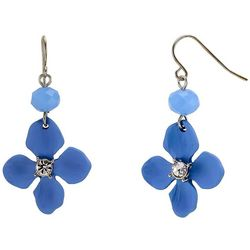 Bay Studio Blue Flower Drop Earrings