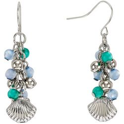 Bay Studio Linear Beaded Shell Charm Earrings