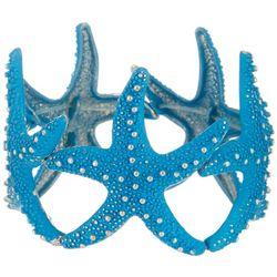 Bay Studio Silver Tone Blue Starfish Stretch Bracelet
