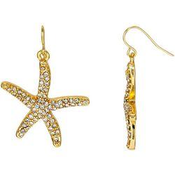 Bay Studio Rhinestone Starfish Drop Earrings