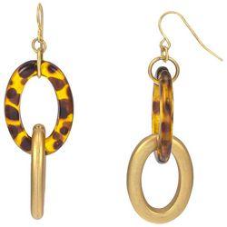 Bay Studio Goldtone Matte Oval Links Dangle Earrings